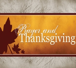 THANKSGIVING PRAYER SERVICE - News & Announcements -